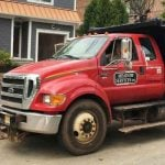 Meadow Services landscaping services truck with GPS tracking