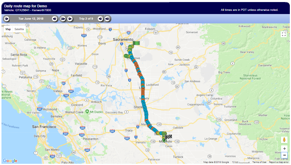 Daily route maps