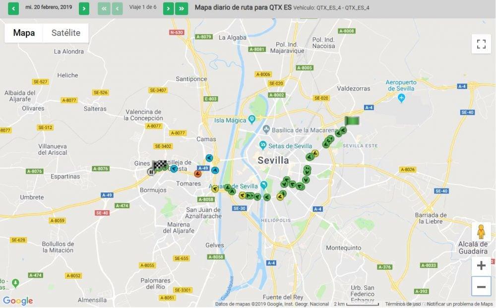 daily route maps - mapa diario de ruta