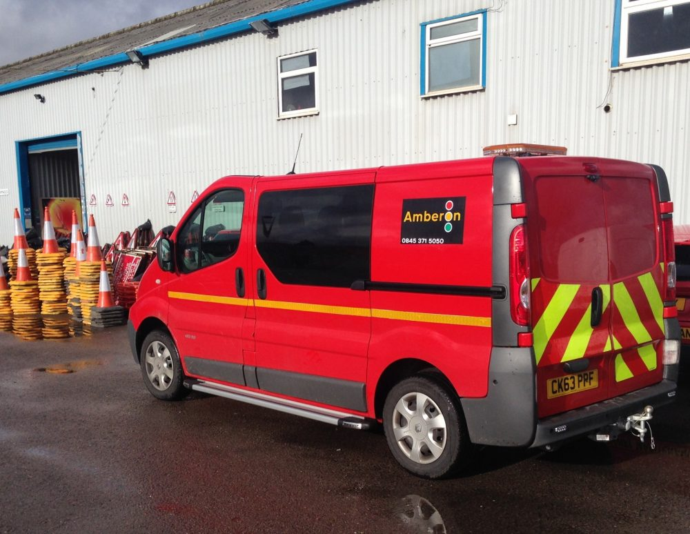 Quartix customer Amberon Ltd supports charity cycle with a tracked Support Van