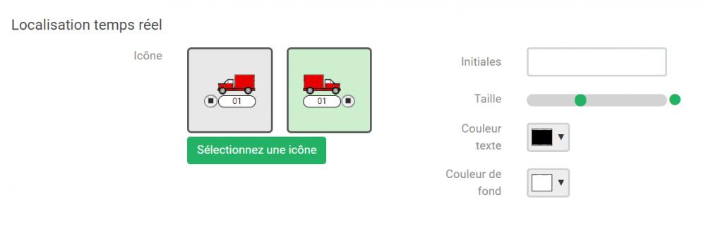 Géolocalisation de véhicules Quartix : Personnalisation des icônes de localisation en temps réel