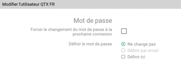 Géolocalisation de véhicules Quartix : il est désormais possible de modifier le mot de passe directement depuis le formulaire de création du compte dans l'interface de géolocalisation Quartix