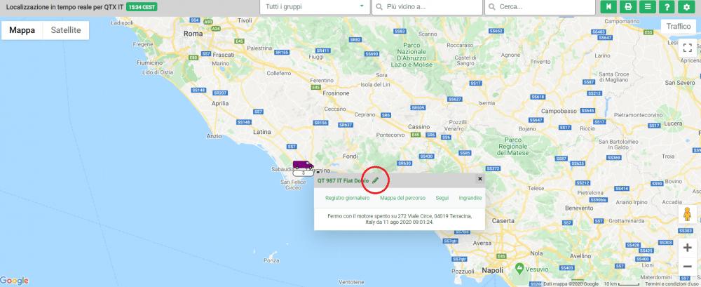 Localizzazione in tempo reale