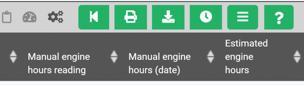 Engine Hours Monitoring