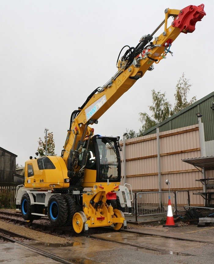 TXM Plant Hire vehicle in service