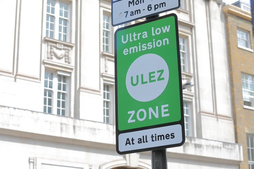 ultra low emission zone signage