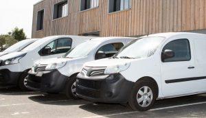 uk tracked vans at depot